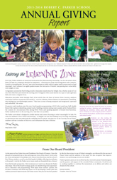 Parker Annual Giving Report-2013-2014_Thumbnail